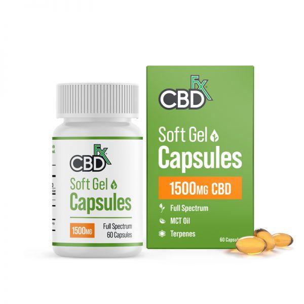 CBDfx Soft Gel 1500mg CBD Capsules