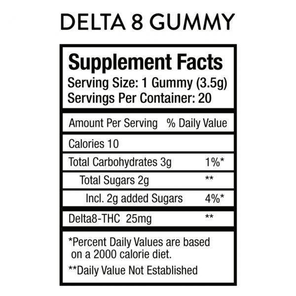 Perl Hemp Co Delta 8 Pomegranate Lemonade 25mg Gummies – 20ct